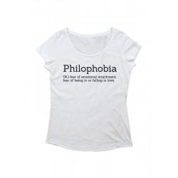 Camiseta chica manga corta PHILOPHOBIA
