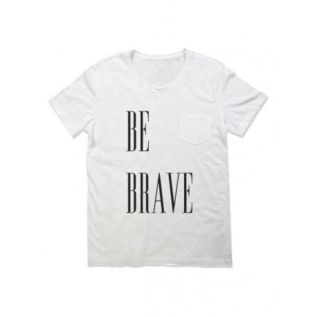 Camiseta manga corta chico bolsillo BE BRAVE
