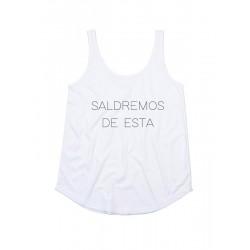 Camiseta tirantes SALDREMOS DE ESTA
