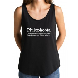 Camiseta tirantes PHILOPHOBIA