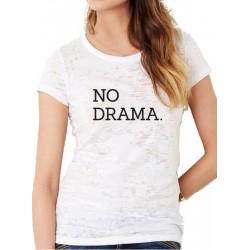Camiseta ajustada manga corta NO DRAMA