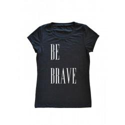Camiseta ajustada manga corta BE BRAVE