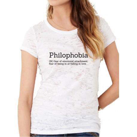 Camiseta ajustada manga corta PHILOPHOBIA